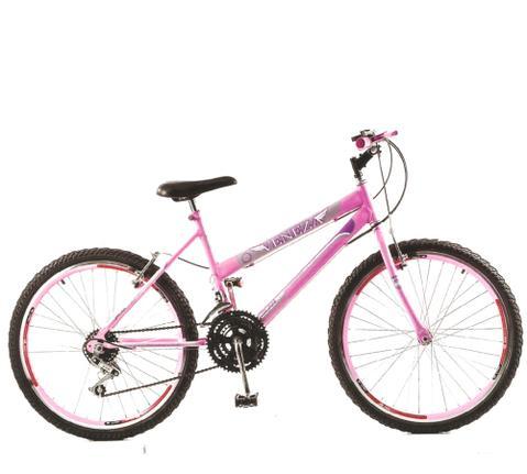 Bicicleta Milan Bike Veneza Vittoria Aro 24 Rígida 18 Marchas - Rosa