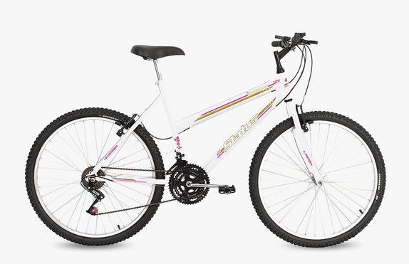 Bicicleta Status Bike Belíssima Aro 26 Rígida 18 Marchas - Branco
