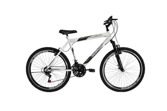Bicicleta Status Bike Lenda Aro 26 Susp. Dianteira 18 Marchas - Branco
