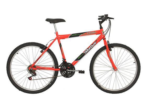 Bicicleta Status Bike Lenda Aro 26 Rígida 18 Marchas - Laranja