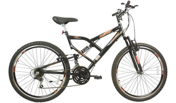 Bicicleta Mega Bike Mb 500 Aro 26 Full Suspensão 21 Marchas - Preto