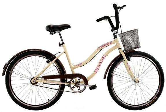 Bicicleta Dalannio Bike Retrô Aro 26 Rígida 1 Marcha - Bege