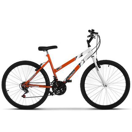 Bicicleta Ultra Bikes Pro Tork Aro 26 Rígida 18 Marchas - Branco/laranja