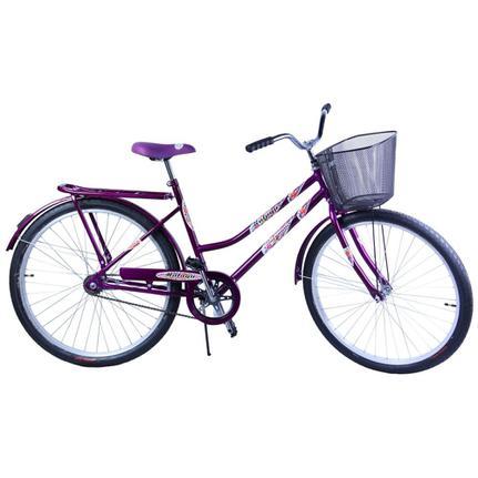 Bicicleta Dalannio Bike Malaga Aro 26 Rígida 1 Marcha - Violeta