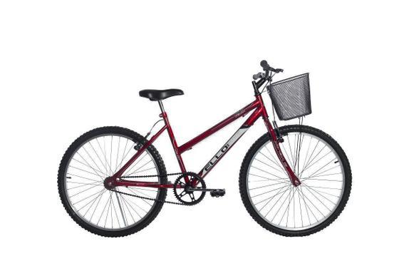 Bicicleta Ello Bike Velox Aro 26 Rígida 1 Marcha - Vermelho