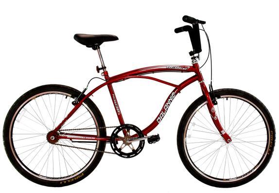 Bicicleta Dalannio Bike Beach Aro 26 Rígida 1 Marcha - Vermelho