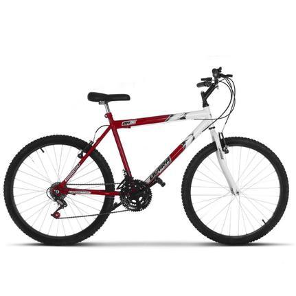Bicicleta Ultra Bikes Ferrari Pro Tork Aro 26 Susp. Dianteira 18 Marchas - Branco/vermelho