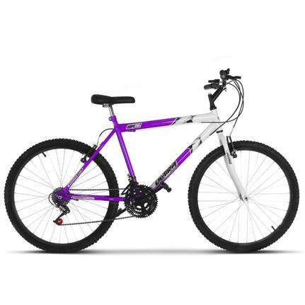 Bicicleta Ultra Bikes Pro Tork Ultra Aro 26 Rígida 18 Marchas - Branco/lilás
