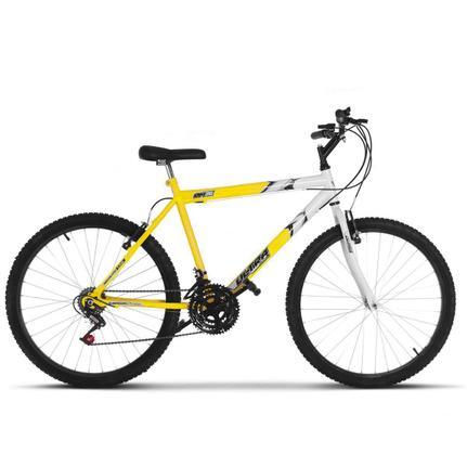 Bicicleta Ultra Bikes Pro Tork Ultra Aro 26 Rígida 18 Marchas - Amarelo/branco