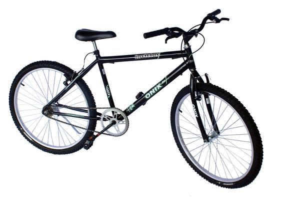 Bicicleta Onix Invictus Aro 26 Rígida 1 Marcha - Preto/verde