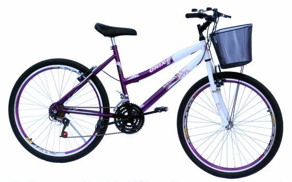 Bicicleta Onix Belle Aro 24 Rígida 18 Marchas - Branco/violeta