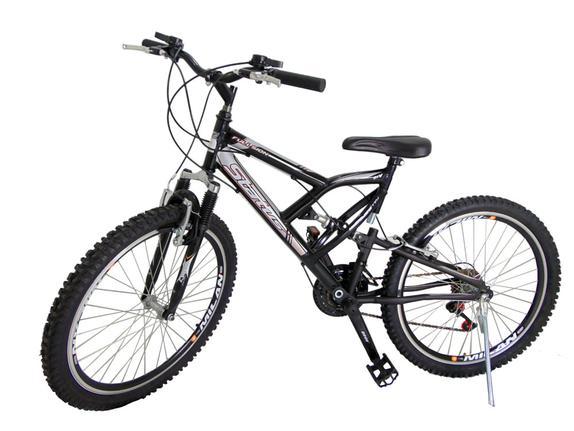 Bicicleta Milan Bike Vittoria Aro 26 Susp. Dianteira 18 Marchas - Preto
