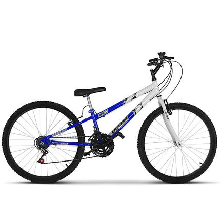 Bicicleta Ultra Bikes Pro Tork Rebaixada Aro 26 Rígida 18 Marchas - Azul/branco