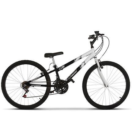 Bicicleta Ultra Bikes Pro Tork Rebaixada Aro 26 Rígida 18 Marchas - Branco/preto