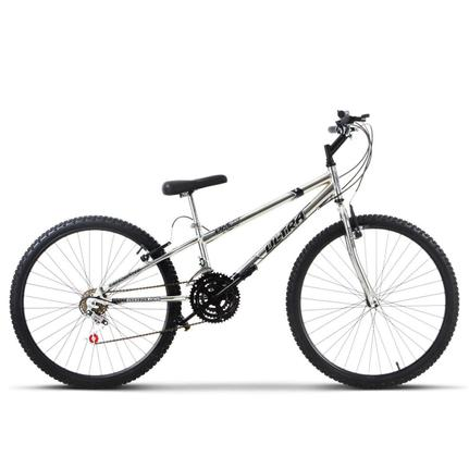 Bicicleta Ultra Bikes Chrome Line Rebaixada Aro 26 Rígida 18 Marchas - Cromado