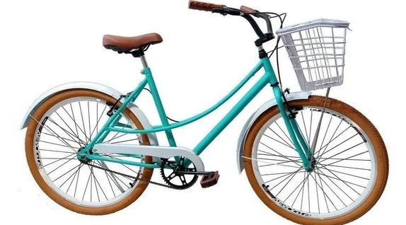 Bicicleta Mobele Bikes Retrô Imperial Aro 26 Rígida 7 Marchas - Verde