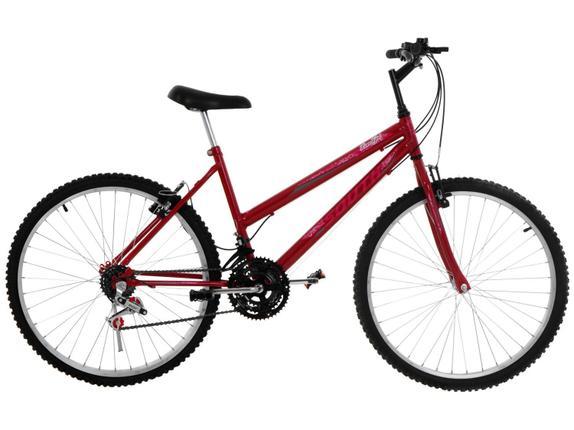 Bicicleta South Bike Lover Girl Aro 26 Rígida 18 Marchas - Vermelho