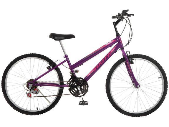 Bicicleta South Bike Love Girl Aro 26 Rígida 18 Marchas - Lilás