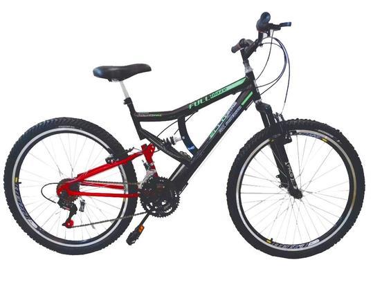 Bicicleta Ello Bike Blaze Aro 26 Full Suspensão 21 Marchas - Preto/vermelho