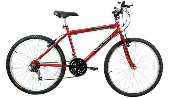 Bicicleta Mega Bike Thunder Sport Aro 26 Rígida 21 Marchas - Vermelho