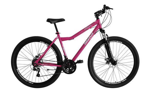 Bicicleta Status Bike Belíssima Aro 29 Susp. Dianteira 21 Marchas - Rosa