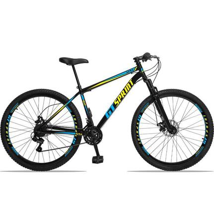 Bicicleta Gt Sprint Mx1 Disc T19 Aro 29 Susp. Dianteira 21 Marchas - Amarelo/azul
