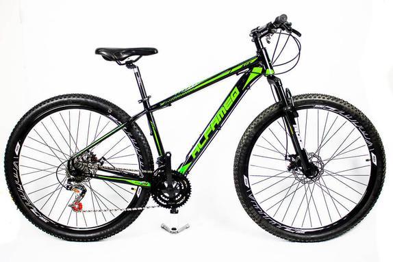 Bicicleta Alfameq Zahav T21 Aro 29 Susp. Dianteira 24 Marchas - Preto/verde