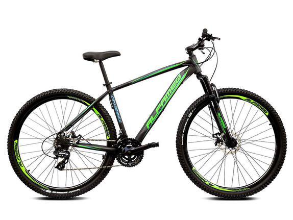 Bicicleta Alfameq Tirreno Disc H T17 Aro 29 Susp. Dianteira 24 Marchas - Preto/verde
