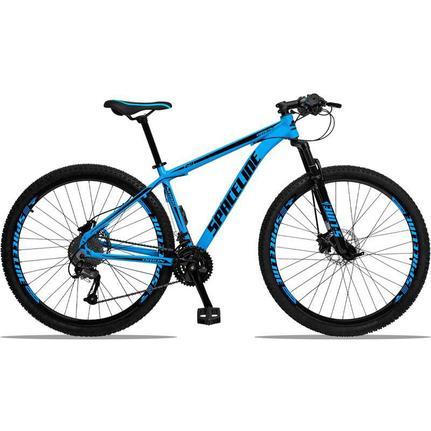 Bicicleta Spaceline Orion Disc T17 Aro 29 Susp. Dianteira 27 Marchas - Azul