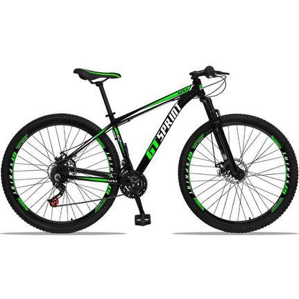 Bicicleta Gt Sprint Mx1 Disc T17 Aro 29 Susp. Dianteira 21 Marchas - Verde