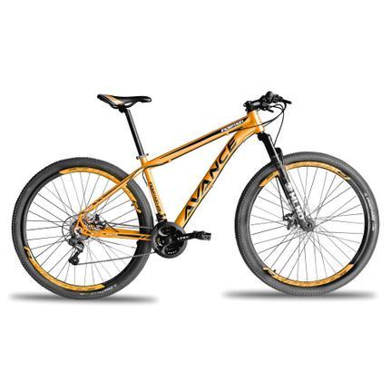 Bicicleta Avance Bike Inception T17 Aro 29 Susp. Dianteira 21 Marchas - Laranja