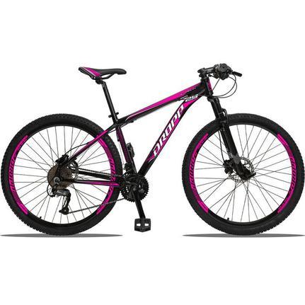 Bicicleta Dropp Aluminum Disc H T17 Aro 29 Susp. Dianteira 27 Marchas - Preto/rosa