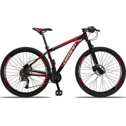 Bicicleta Dropp Aluminum Disc H T21 Aro 29 Susp. Dianteira 27 Marchas - Preto/vermelho