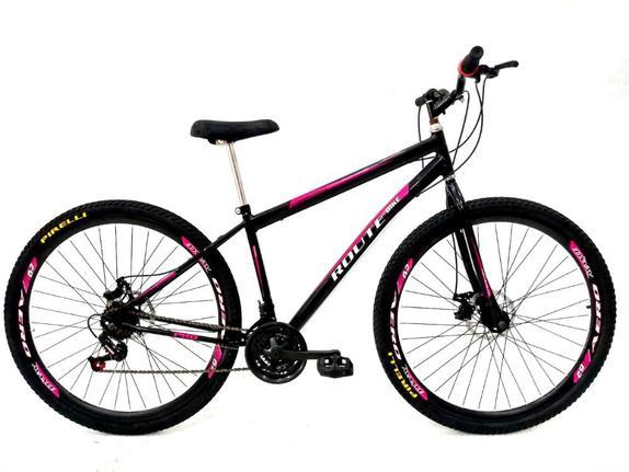 Bicicleta Avance Bike Tropper Aro 29 Susp. Dianteira 21 Marchas - Preto/rosa