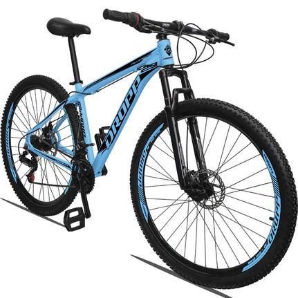 Bicicleta Dropp Aluminum T19 Aro 29 Susp. Dianteira 21 Marchas - Azul