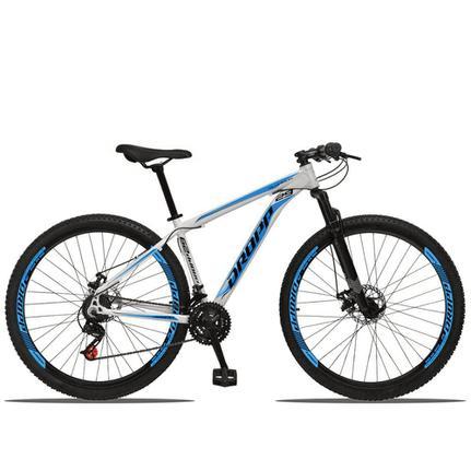 Bicicleta Dropp Aluminum Disc M T17 Aro 29 Susp. Dianteira 21 Marchas - Azul/branco