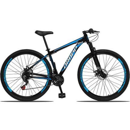 Bicicleta Dropp Aluminum T15 Aro 29 Susp. Dianteira 21 Marchas - Azul/preto
