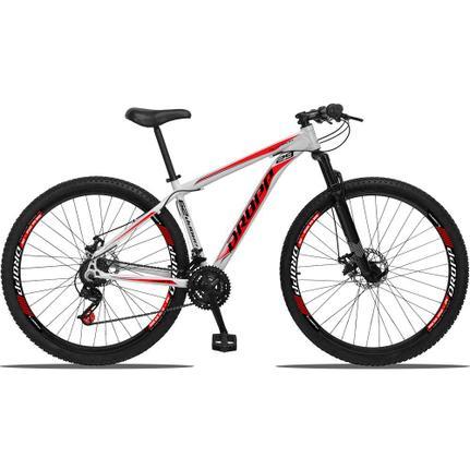 Bicicleta Dropp Aluminum T19 Aro 29 Susp. Dianteira 21 Marchas - Branco/vermelho