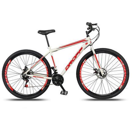 Bicicleta Dropp Sport T19 Aro 29 Rígida 21 Marchas - Branco/vermelho