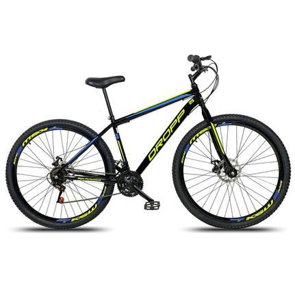 Bicicleta Dropp Sport T19 Aro 29 Susp. Dianteira 21 Marchas - Amarelo/azul