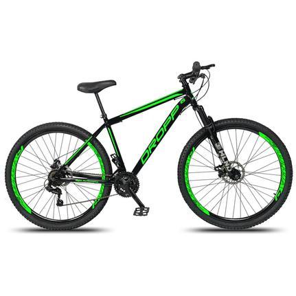 Bicicleta Dropp Sport T19 Aro 29 Susp. Dianteira 21 Marchas - Preto/verde