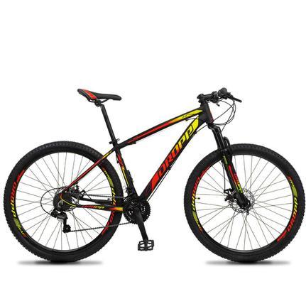 Bicicleta Dropp Z3 Disc H T21 Aro 29 Susp. Dianteira 21 Marchas - Amarelo/vermelho