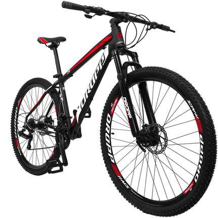 Bicicleta Dropp Z3 Disc H T15 Aro 29 Susp. Dianteira 21 Marchas - Preto/vermelho
