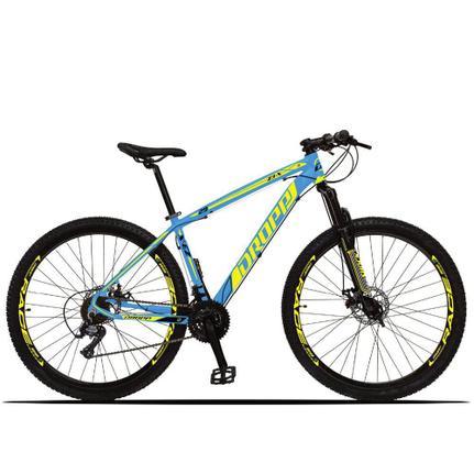Bicicleta Dropp Z3 Disc H T15.5 Aro 29 Susp. Dianteira 21 Marchas - Amarelo/azul
