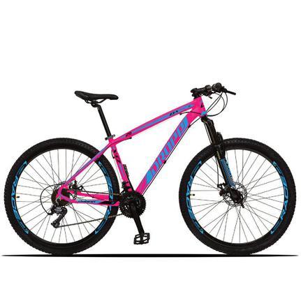 Bicicleta Dropp Z3x Disc M T19 Aro 29 Susp. Dianteira 21 Marchas - Azul/rosa