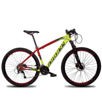Bicicleta Dropp Z7x Disc H T19 Aro 29 Susp. Dianteira 27 Marchas - Amarelo/vermelho