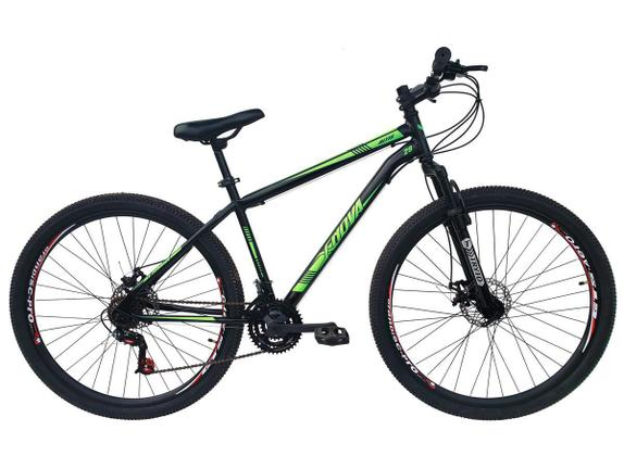 Bicicleta Xnova Mountain Altis Aro 29 Rígida 21 Marchas - Verde