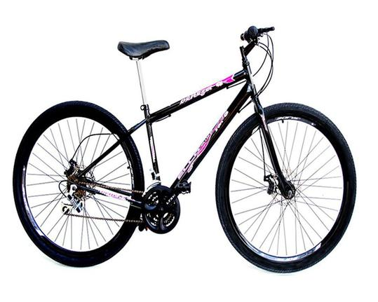 Bicicleta Ello Bike Veneza Aro 29 Rígida 21 Marchas - Preto/rosa