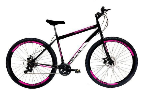 Bicicleta Ello Bike Velox Aro 29 Rígida 21 Marchas - Preto/rosa