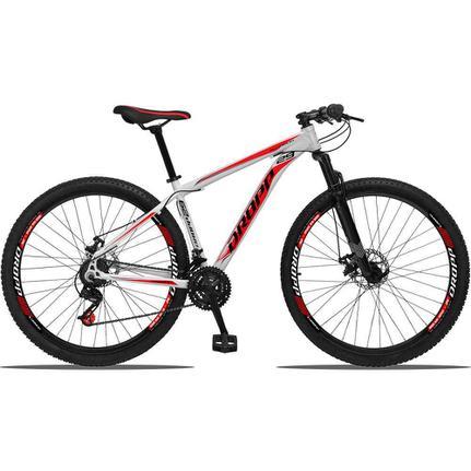 Bicicleta Dropp Aluminium T19 Aro 29 Susp. Dianteira 21 Marchas - Branco/vermelho
